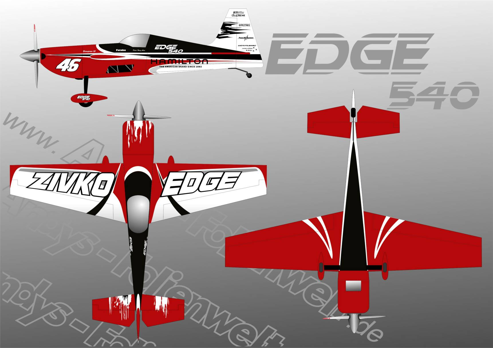 Edge 540 CARF racing red