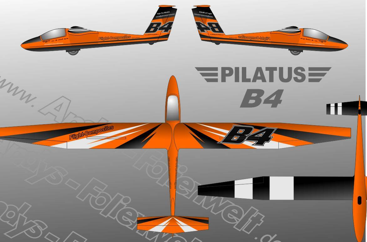 B4 Flight Composite orange